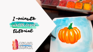 watercolor pumpkin sketch tutorial