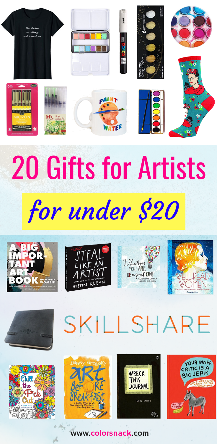 20 Gifts for under 20 Dollars - Gifts for Artists and Creatives - Gift Guide