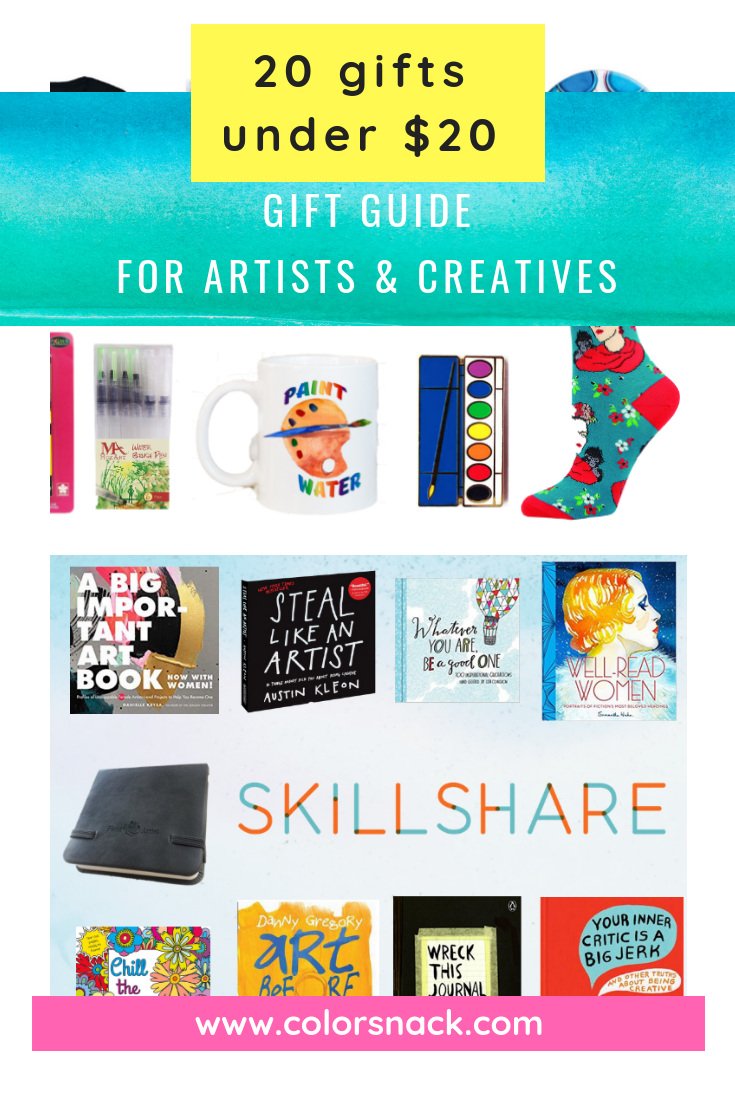 Christmas Gifts Under 20.20 Gifts For Artists Creatives And Art Lovers For Under 20