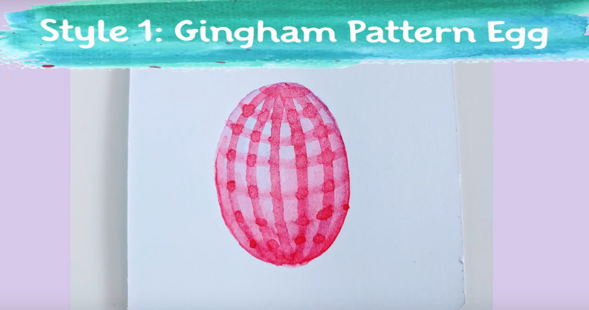 watercolor easter egg