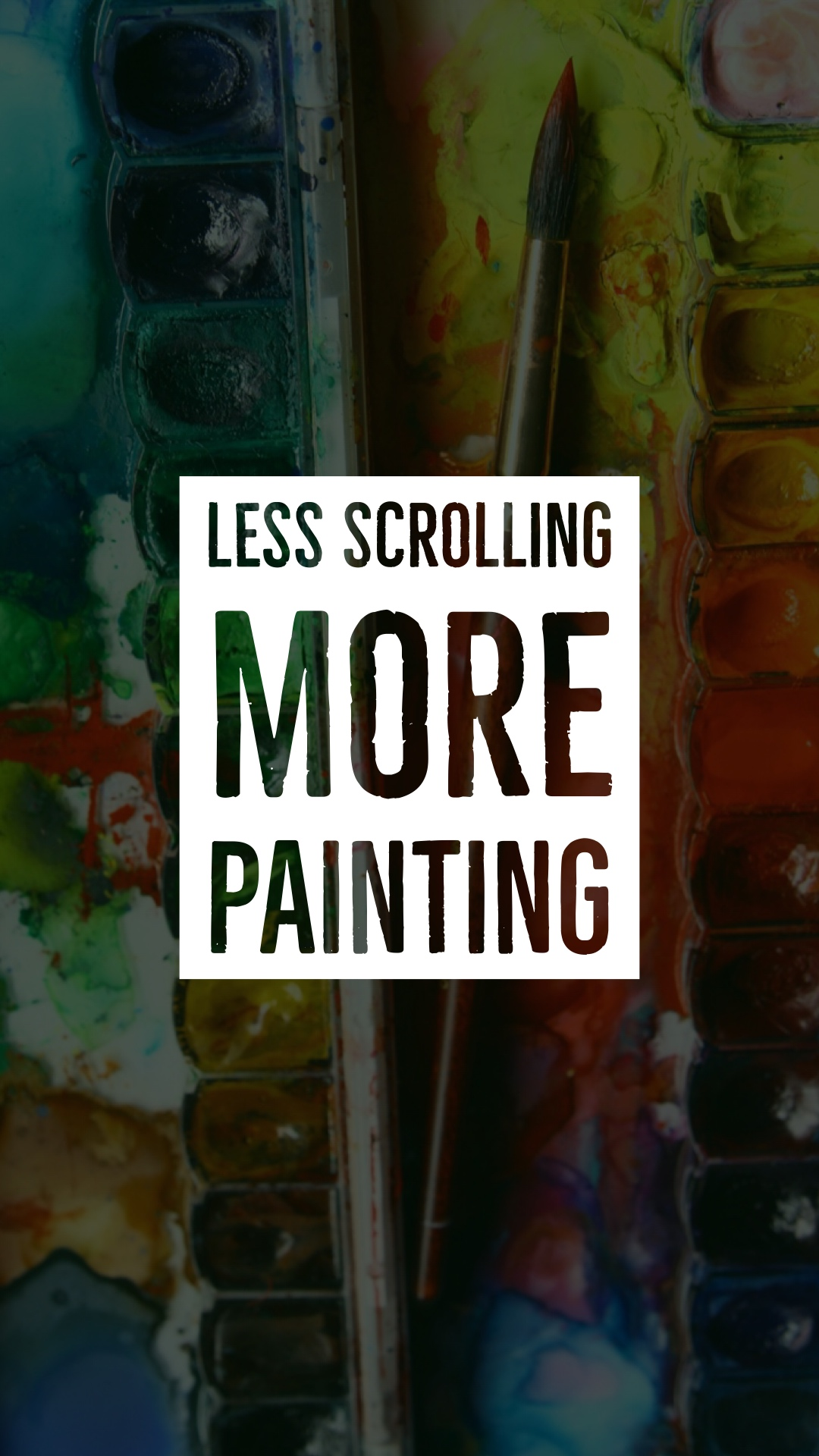 phone addiction - watercolor phone wallpaper