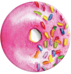 Watercolor Pink Donut PopSocket Grip