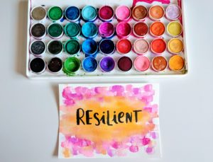 Word of the Year Watercolor Pattern
