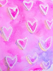 easy watercolor valentine day