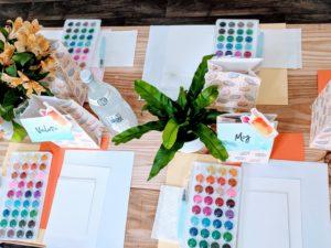 diy watercolor place cards