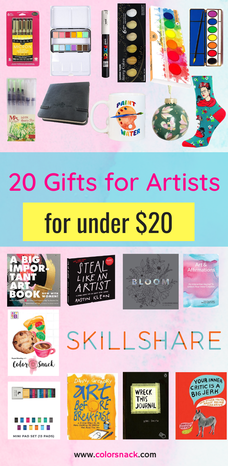 20 Gifts For Artists Creatives And Art Lovers For Under 20 Gift Guide