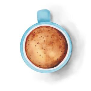 watercolor coffee cup