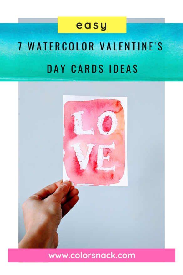 easy watercolor valentines day cards