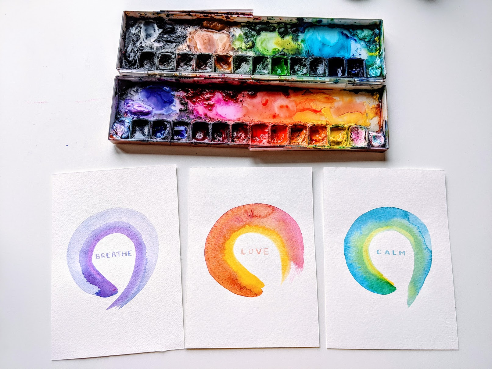 enso art watercolor