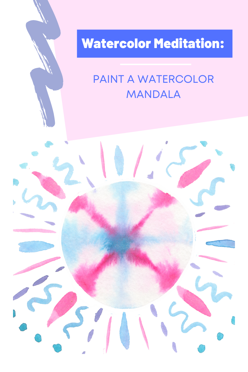 watercolor meditation relaxation