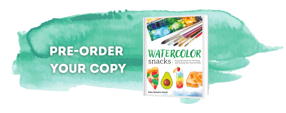 watercolor snacks book on painting watercolor foods